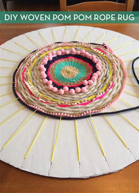 Weaving Rugs Without A Loom how to woven rug using a cardboard loom curbly