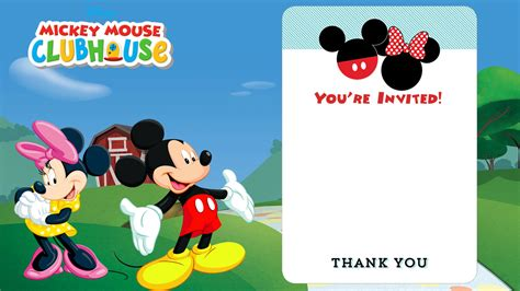 mickey mouse clubhouse invitation template free disney printable birthday invitations downloadable