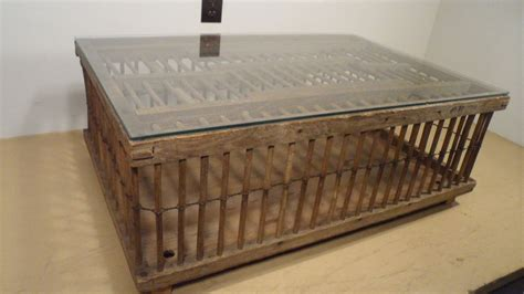primitive coffee table decor primitive wooden chicken crate coop coffee table awesome