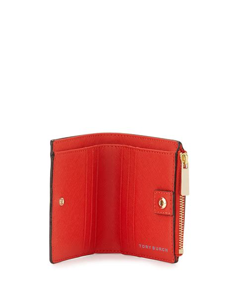 Torry Burch Wallet Leather Burch Robinson Leather Mini Wallet In Lyst