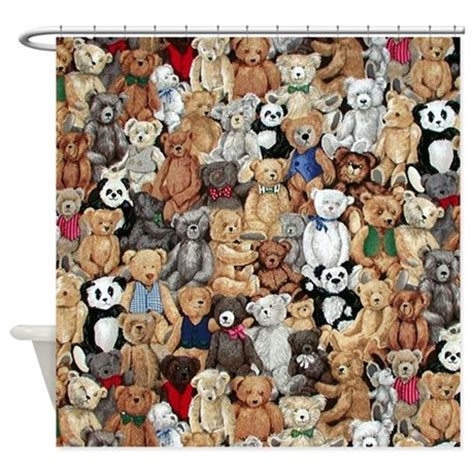 teddy bear shower curtain teddy bears shower curtain by pacificblue1