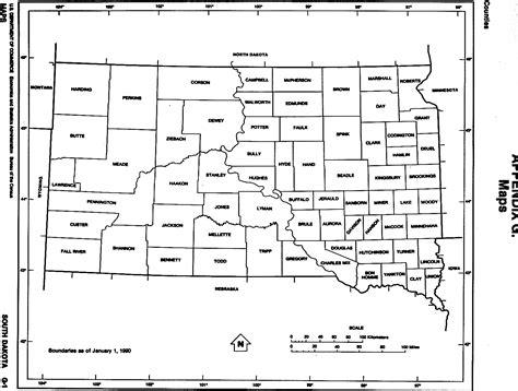 south dakota county map south dakota free map