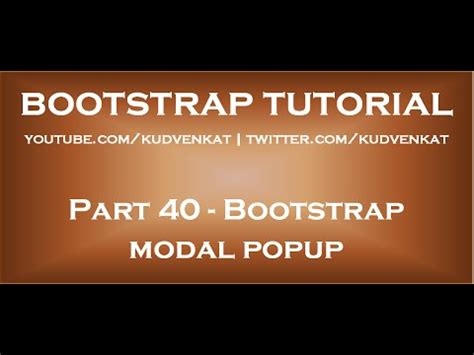 bootstrap tutorial popup how to show popup in asp net doovi
