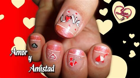 imagenes de uñas decoradas de amor y amistad 32 decoraci 243 n de u 241 as amor y amistad yana nail art
