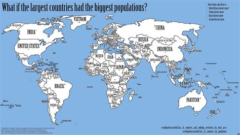 country map map of the world s countries rearranged by population big think