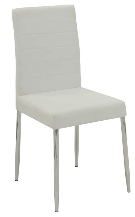everyday dining side chair vance white  chrome