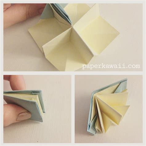 How To Make A Paper Origami Book - origami popup book tutorial paper kawaii