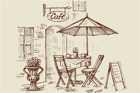 Cafe Doorway Wallpaper for Wall Decor