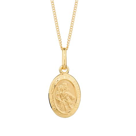 st pendant st christopher pendant in 10ct yellow gold