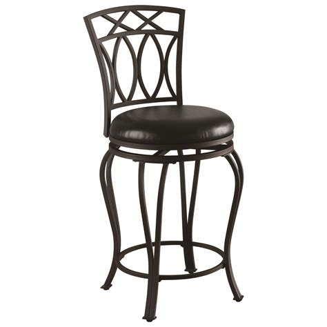 24 Dining Chairs Coaster Dining Chairs And Bar Stools 122059 24 Quot Metal Barstool With Black Faux Leather