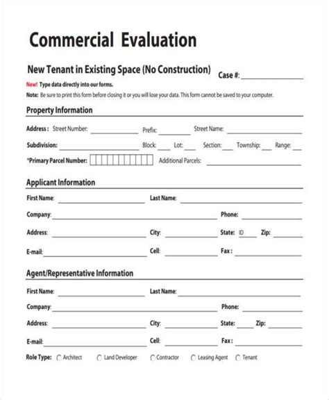 Sle Property Evaluation Forms 7 Free Documents In Word Pdf Property Valuation Form Template