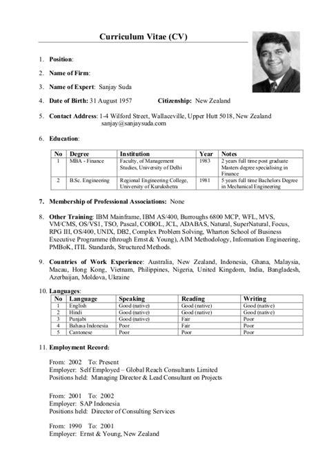 Format Cv Adb | 160929 ss cv in wb and adb format
