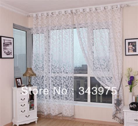 fancy living room curtains joker textile free shipping sheer curtains white sheer