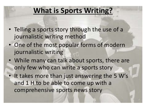 pattern in writing sports news sports journalism by paul brandley