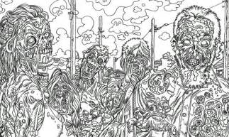 zombie art zombie town coloring book art zombie art rob sacchetto