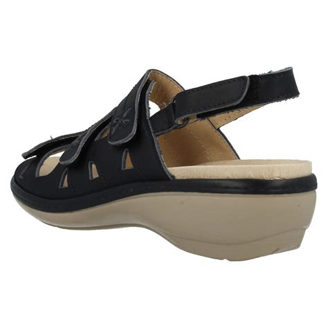 sandals for with wide easy b wide leather velcro sandals ebay