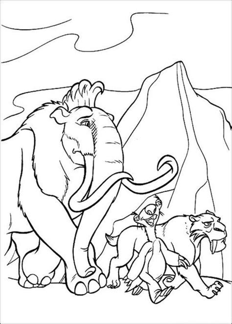 Ice Age 4 Coloring Pages For Kids Gt Gt Disney Coloring Pages Age Coloring Pages