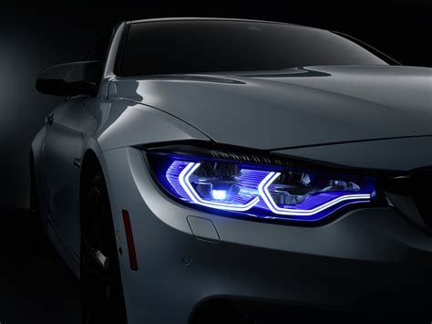 Car Lights Types Uk by Bmw M4 Shows Laser Headlights With Ces Concept Evo