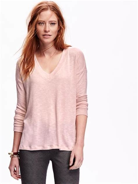 Sweater Top swing v neck sweater knit top for oldnavy