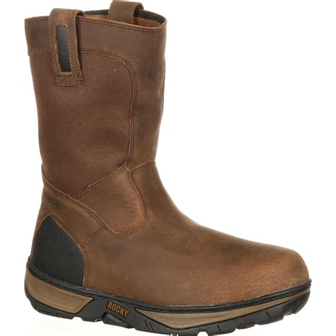 rocky work boots for rocky forge s waterproof wellington work boot rk029