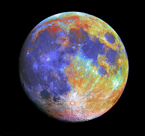 what is the color of the moon different colors of moons pics about space