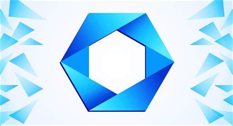 polygon logo design  corel draw