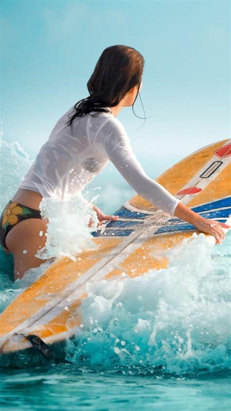 women water wet surfing iphone  wallpaper hd   iphonewalls