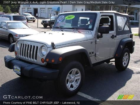 jeep wrangler light grey light graystone pearl 2007 jeep wrangler x 4x4