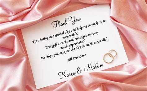thank you letter marriage gift wedding thank you card wording for more sweet to come