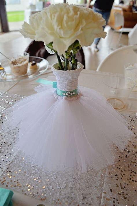Bridal Centerpieces Flowers by Wedding Dress Bouquet Vase Floral Arrangement Teal Bling