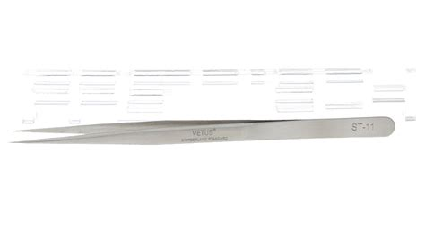 Pinset Vetus Hrc40 St 11 Stanliess 3 53 authentic vetus st 11 stainless steel sharp tweezers 140mm hardness hrc40 at