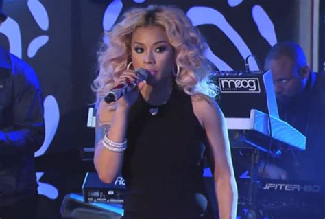keisha cole wearing red lace jump suit keyshia cole performs on jimmy kimmel live