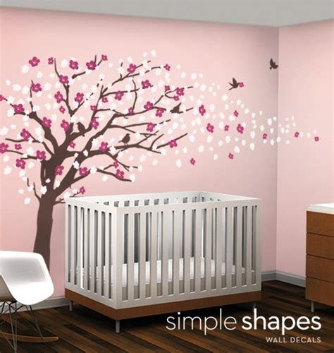 wallets pink cherry blossom tree branch decor wall art sticker decal