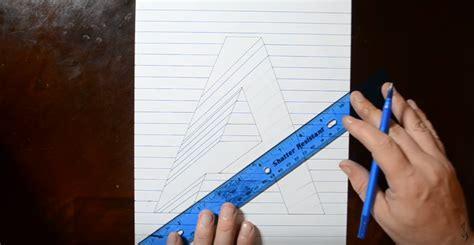 cara membuat gambar naruto 3d dengan pensil cara menggambar 3d di kertas dengan pensil untuk pemula