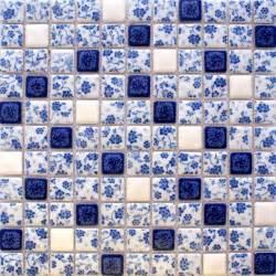 blue white mosaic