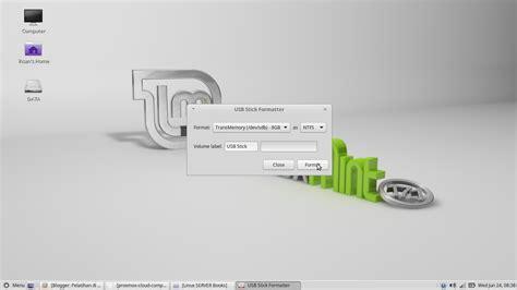 format flash disk linux mint cara menjadikan flash disk sebagai bootable