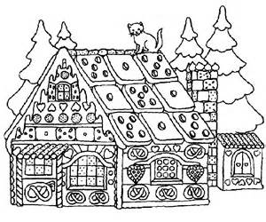 Gingerbread House Coloring Page  AZ Pages sketch template