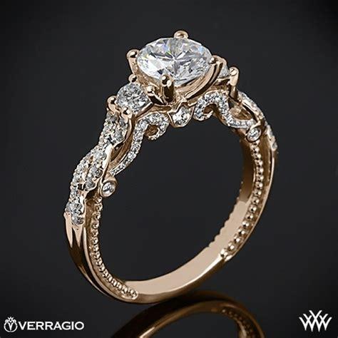 20k gold verragio braided 3 engagement ring