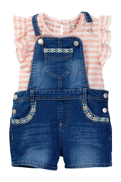 Overall Stripe Blouse embroidered overall striped shirt set toddler nordstrom rack