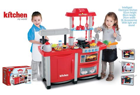 Interactive Electronic Kitchen Play Set Electronic Lights And Sounds Childrens Pretend