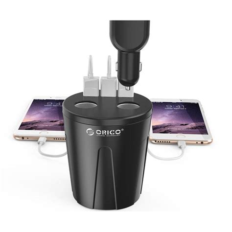 Charger Mobil 3 Usb orico cup charger mobil 3 usb port 2 cigarrette lighter