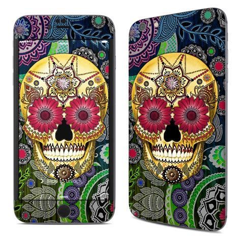 Iphonen 6 6s Plus Skull Sugar Owl Wallpapers Casing Hardcase apple iphone 6 plus skin sugar skull paisley by fusion idol decalgirl