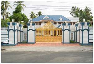 Home Design For Wall Compound Wall Gate Design Keralareal Estate Kerala Free