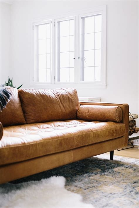 Brown Leather Modern Sofa Www Energywarden Net Brown Modern Sofa