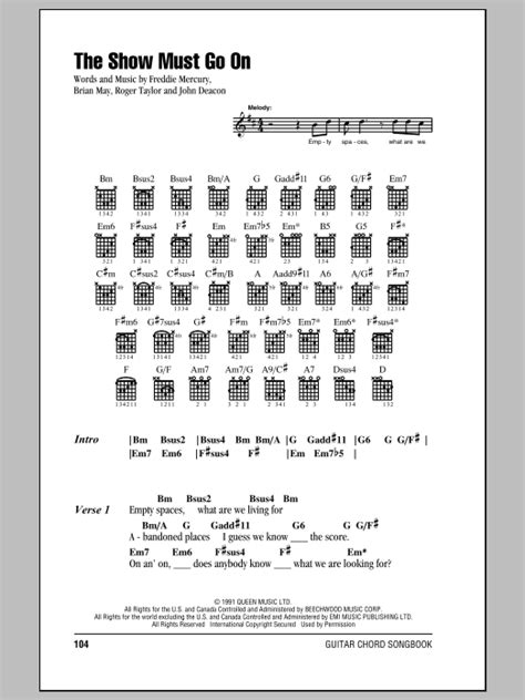 The Show Must Go On   Sheet Music Direct