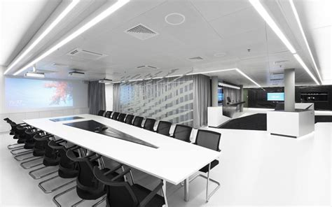 Modern Conference Room Tables by Black Leather Swivel Chairs Combined With Rectangle Table