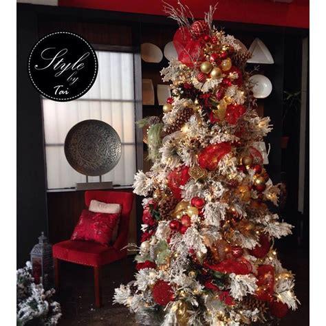 decorar un arbol de navidad blanco 193 rboles de navidad decorados en rojo y dorado tendencias
