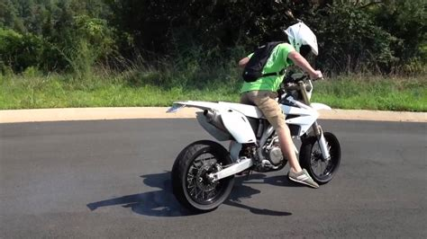 road legal motocross bike supermoto street legal crf450 burn out youtube