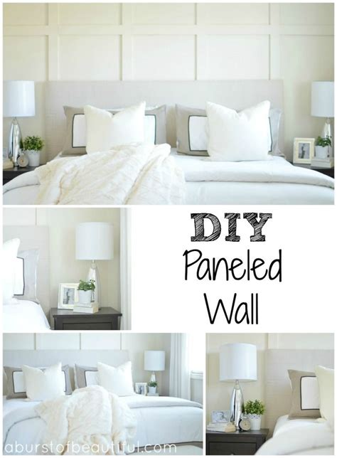Wainscoting Ideas For Bedroom by Diy Paneled Wall Diy