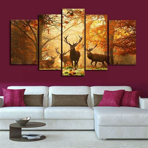hd home decor hd canvas print modern scenery animal wall art oil